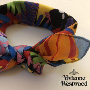 NEW Vivienne Westwood FUNKY Handkerchief Orb Scarf